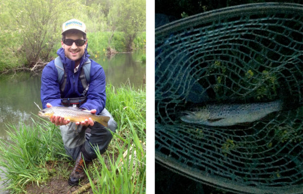 John Barrett shows May Driftless brownies caught during both morning and evening fishing.